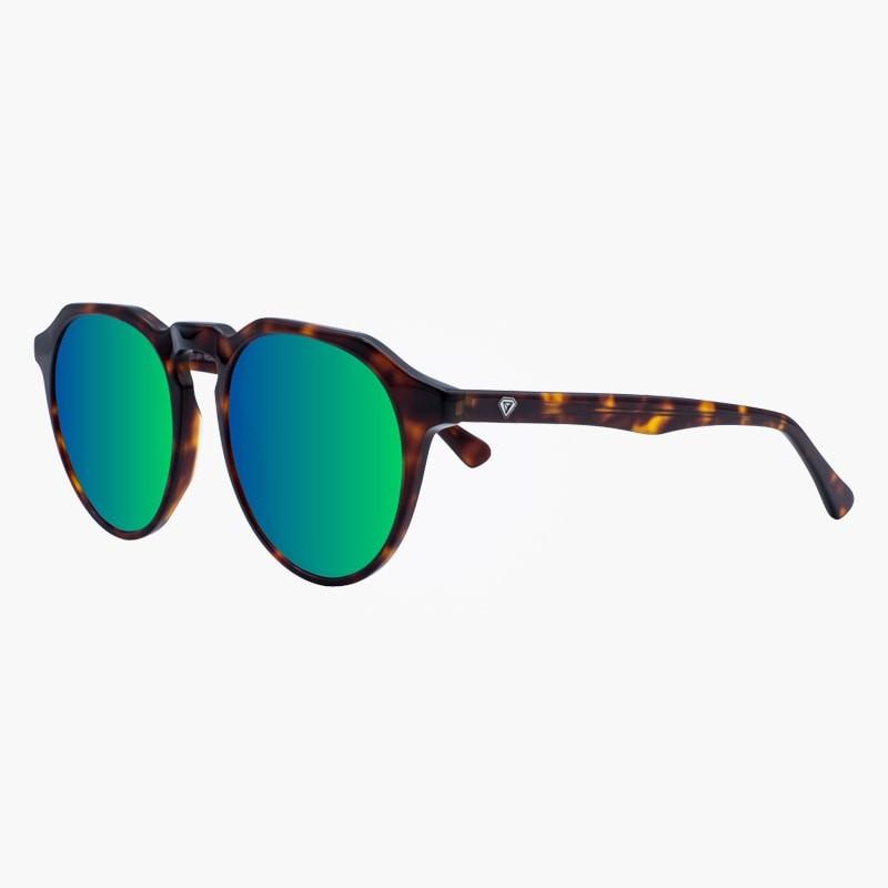 gafas de sol Carey Blue Clover espejadas