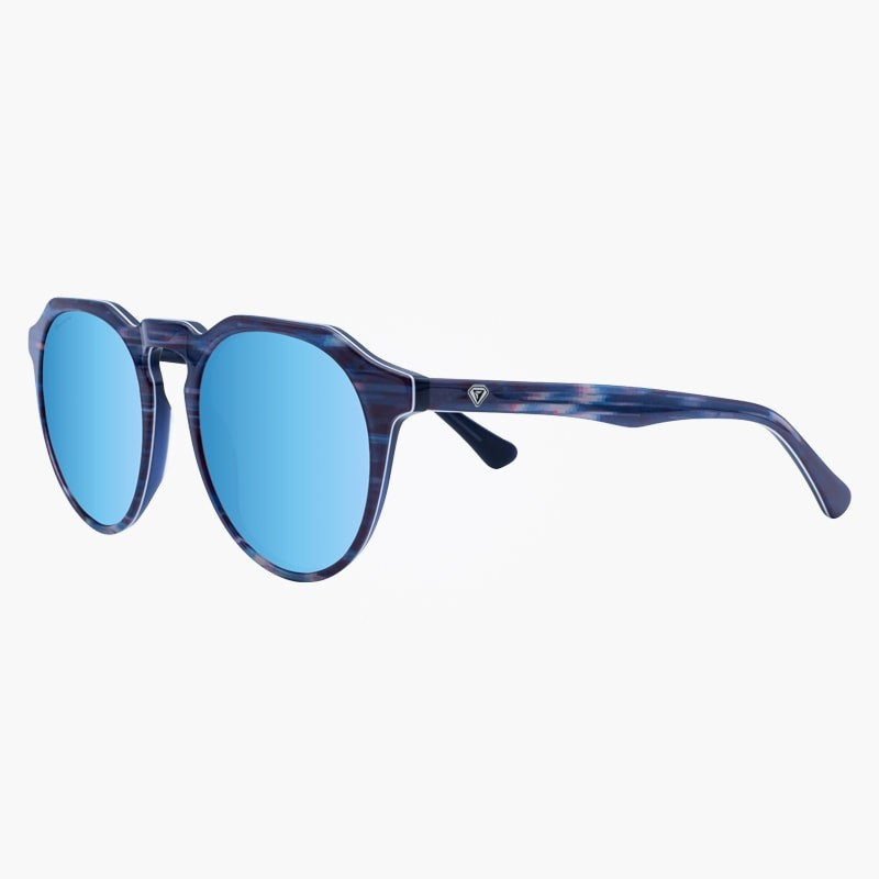 Gafas de sol polarizadas Glitch White Blue Mirror yourway