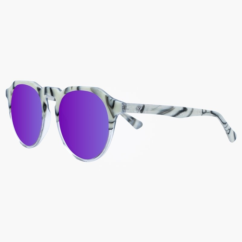 Gafas de sol mármol White Rocks Black Purple yourway
