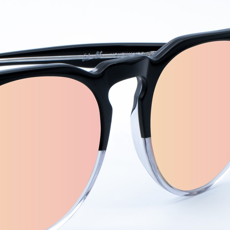 Óculos de sol transparentes Bicolor Rose Gold yourway