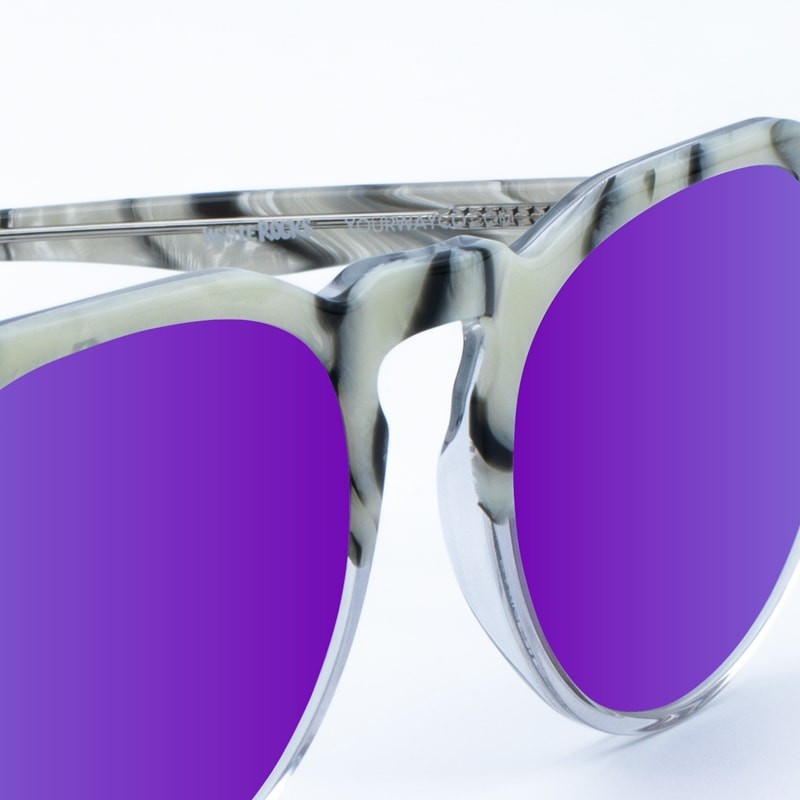 Lunettes de soleil en marbre White Rocks Black Purple yourway