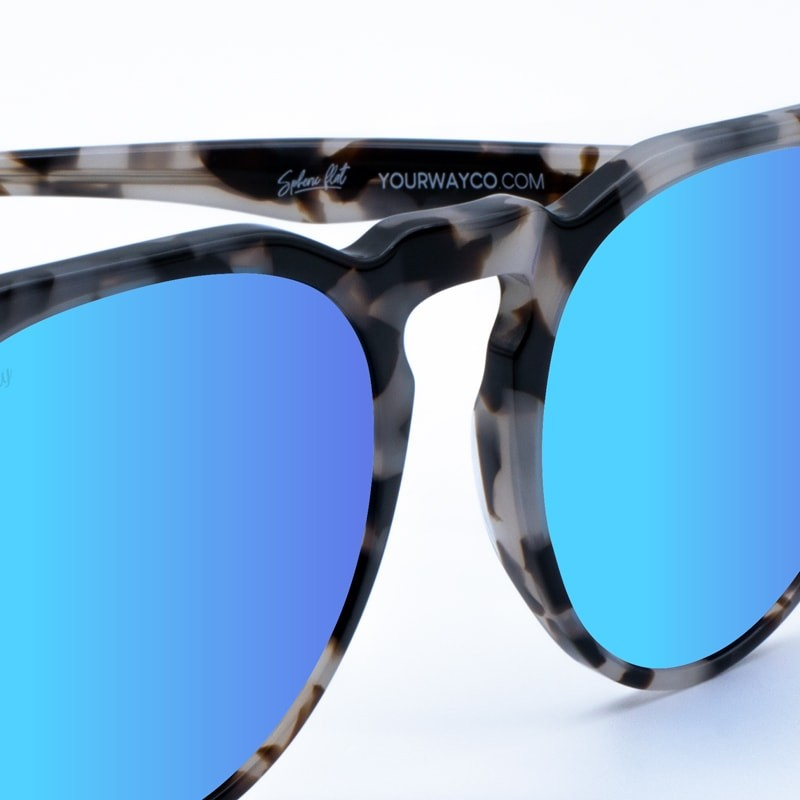 Gafas de sol marmol granito Grey Rocks Ice Blue yourway