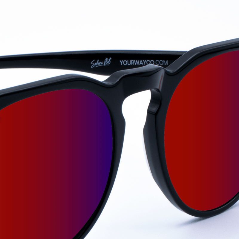 gafas de sol yourway Glossy Black Winefire