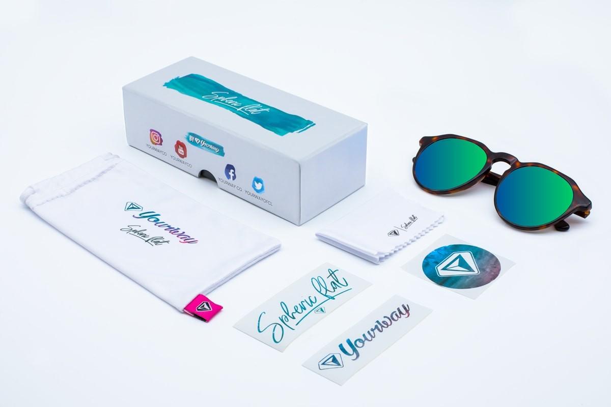 gafas de sol Carey Blue Clover polarizadas